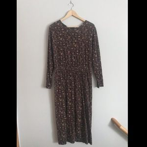 J. Crew floral long dress gently used